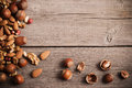 Mixed Nuts On Wooden Background Royalty Free Stock Photography - 47887107