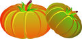 Two Pumpkins Royalty Free Stock Image - 47890166