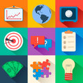 Business Flat Icons For Infographic. Vector Stock Image - 47892031