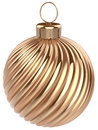Christmas Ball New Years Eve Bauble Decoration Gold Stock Photo - 47894960
