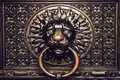 Bronze Knocker With Lion Head Royalty Free Stock Image - 47895016