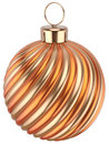 Christmas Ball New Years Eve Bauble Decoration Orange Gold Stock Photo - 47895820