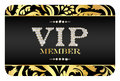 VIP Member Card With Golden Floral Pattern Stock Photography - 47901812