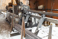 Rebar And Reinforcing Steel Cutting Bender Machine Royalty Free Stock Photography - 47907857