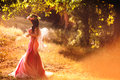 Enchanting Nymph In Forest Royalty Free Stock Photo - 47908085