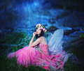 Enchanting Nymph In Forest Stock Images - 47908194