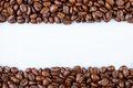 Frame Of Coffee Beans On A White Background. Stock Photos - 47908963