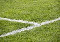 Corner Line Of Soccer Field Royalty Free Stock Image - 47910606