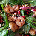 Spinach And Shrimp Salad Royalty Free Stock Photography - 47913477