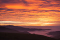 Sunset Sky And Foggy Valley In Black Forest, Germany Stock Images - 47927594