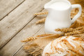 Milk And Bread Royalty Free Stock Photo - 47930165