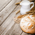 Milk And Bread Stock Images - 47930264
