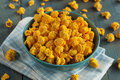 Homemade Cheddar Cheese Popcorn Stock Photography - 47938382