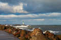 Breakwater In Storm. Royalty Free Stock Photography - 47947017