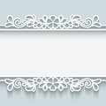 Ornamental Paper Frame Stock Photography - 47957622