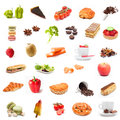 Ingredients Food Collage Royalty Free Stock Image - 47959866