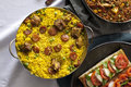 Casserole With Paella Stock Image - 47961851
