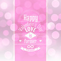 Valentine S Day Card Vector Abstract Background With Blurred Defocused Pink Bokeh Lights Royalty Free Stock Images - 47966239