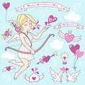 Valentines Day Vector Cute Illustrations, Icons Set Stock Images - 47969394
