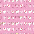 Seamless Pattern With Hearts Royalty Free Stock Images - 47976239