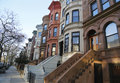 Famous New York City Brownstones In Prospect Heights Neighborhood In Brooklyn Stock Images - 47978474