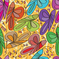 Butterfly Curl Seamless Pattern Stock Image - 47992651