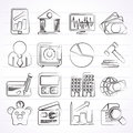 Business, Finance And Bank Icons Stock Photos - 47994303