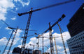 Cranes At Construction Site Royalty Free Stock Image - 487236
