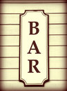 Bar Sign Royalty Free Stock Images - 4803009