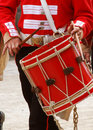 Marching Redcoat Drummer Stock Image - 4803811
