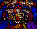 Angels Making Music In Stained Glass Stock Image - 48003441