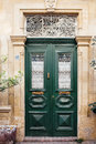 Green Wooden Mediterranean Door Stock Photo - 48007170