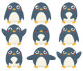 Penguin Emoticons Stock Photo - 48008260