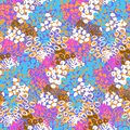 Hand Painted Vector Pattern With Splatters Royalty Free Stock Photography - 48010427