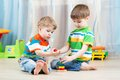 Children Brothers Play Together In Nursery Royalty Free Stock Photos - 48027798