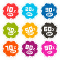 Splash Vector Discount Labels Set Royalty Free Stock Photo - 48028605