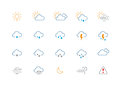 Thin Weather Colour Icon Set Stock Images - 48030584