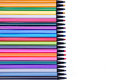 Marker Pens Ink In A Row Royalty Free Stock Images - 48034809