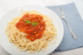 Pasta With Tomato Sauce Stock Photography - 48038342