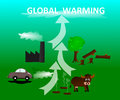 Causes Global Warming Royalty Free Stock Photo - 48044055