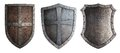 Metal Medieval Shields Set Isolated Stock Images - 48049104