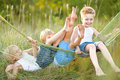 Three Children Playing Royalty Free Stock Photography - 48055727