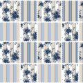 Abstract Seamless Patchwork Checkered Blue Plaid Textile Retro Royalty Free Stock Images - 48057299