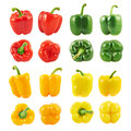 Sweet Bell Pepper Set Isolated Stock Photo - 48062310