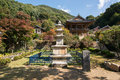 YEONGJU, KOREA - OCTOBER 15, 2014: Stone Pagoda In Buseoksa Stock Photos - 48064713