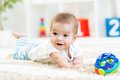 Baby Boy Playing With Toy Indoor Royalty Free Stock Image - 48066476