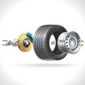 Wheel Parts Stock Images - 48066534