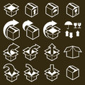 Packaging Boxes Icons Vector Set, Pack Simplistic Symbols Vector Royalty Free Stock Photos - 48069878
