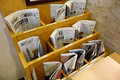 Various Of Newspapers Located In The Rack In Kyoto Royalty Free Stock Photos - 48097788
