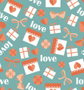 Romantic Seamless Pattern With Hearts Stock Photo - 48106080